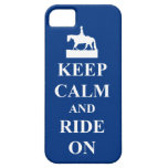 Keep calm & ride on (blue) iPhone 5 covers