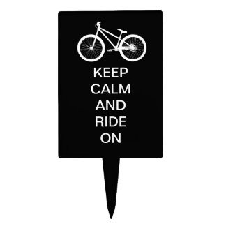 Keep Calm Ride On Cake Topper