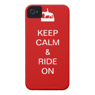 Keep calm ride on Case-Mate iPhone 4 case