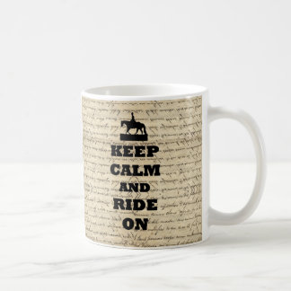 Keep calm & ride on coffee mug