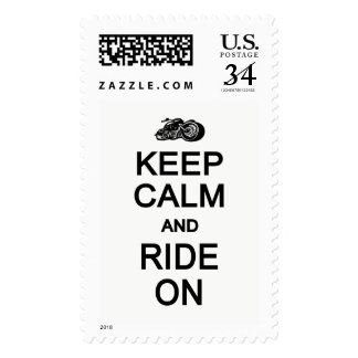 Keep Calm & Ride On custom color stamps