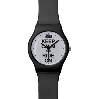 Keep Calm & Ride On custom color watches