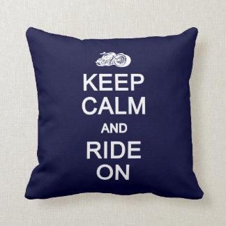 Keep Calm & Ride On custom pillow