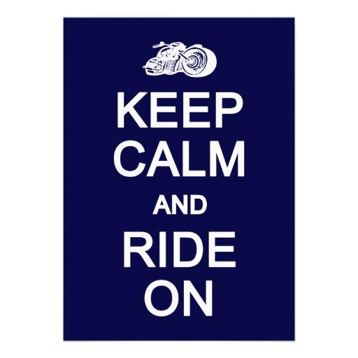 Keep Calm & Ride On invite / card, customize