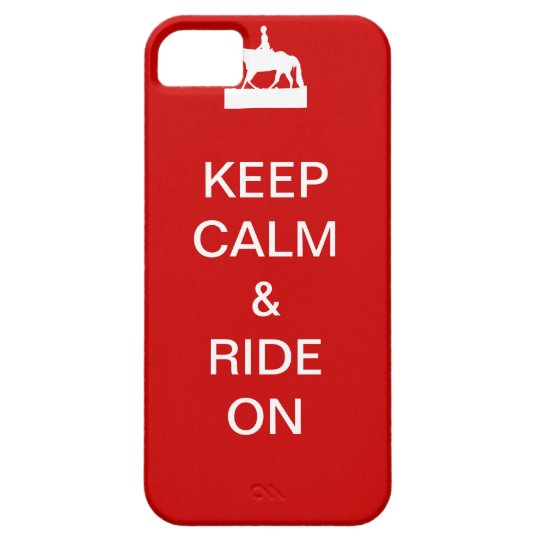 Keep calm & ride on iPhone SE/5/5s case