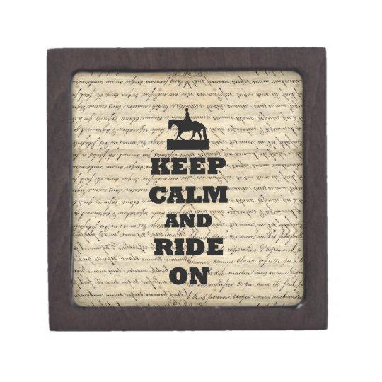 Keep calm & ride on jewelry box