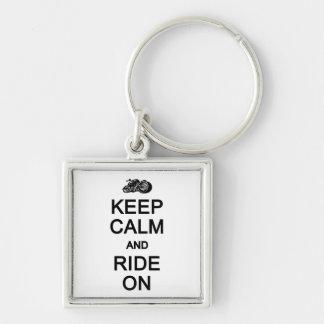 Keep Calm & Ride On key chain