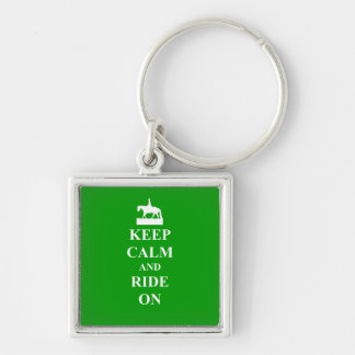 Keep calm & ride on keychain