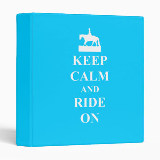 Keep calm & ride on (light blue) binders