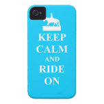 Keep calm & ride on (light blue) iPhone 4 Case-Mate cases