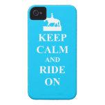 Keep calm & ride on (light blue) iPhone 4 case