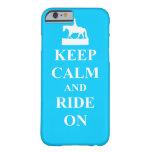 Keep calm & ride on (light blue) iPhone 6 case