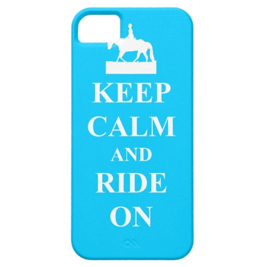 Keep calm & ride on (light blue) iPhone SE/5/5s case