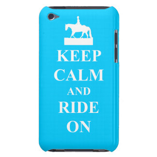 Keep calm & ride on (light blue) iPod Case-Mate case