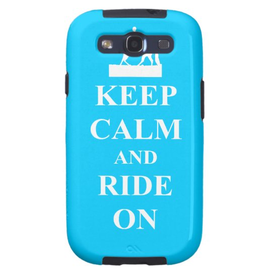 Keep calm & ride on (light blue) samsung galaxy s3 cover