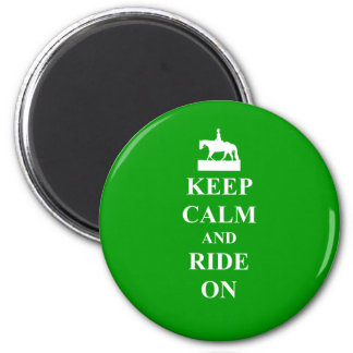 Keep calm & ride on magnet