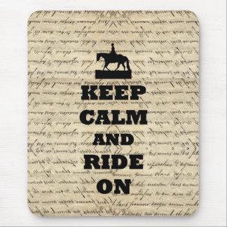 Keep calm & ride on mousepads