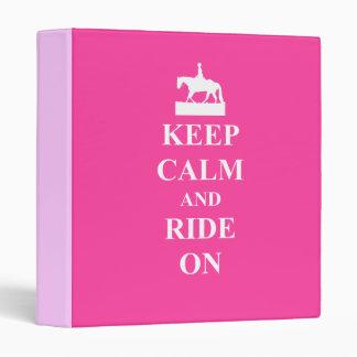 Keep calm & ride on (pink) binders
