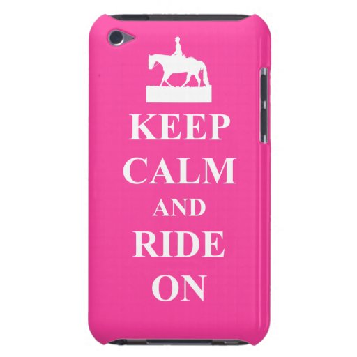 Keep calm & ride on (pink) Case-Mate iPod touch case