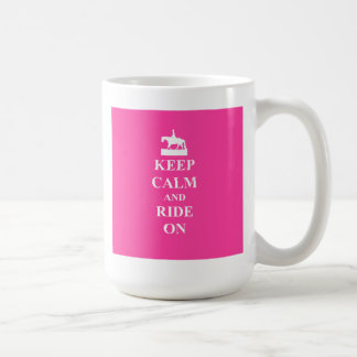 Keep calm & ride on (pink) coffee mug