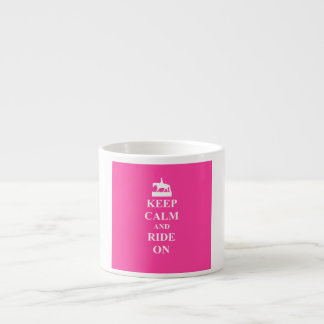 Keep calm & ride on (pink) espresso cup