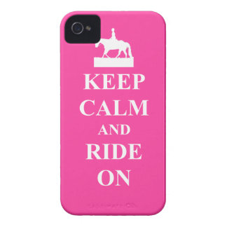 Keep calm & ride on (pink) iPhone 4 Case-Mate case