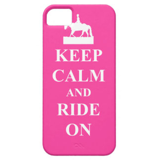 Keep calm & ride on (pink) iPhone SE/5/5s case