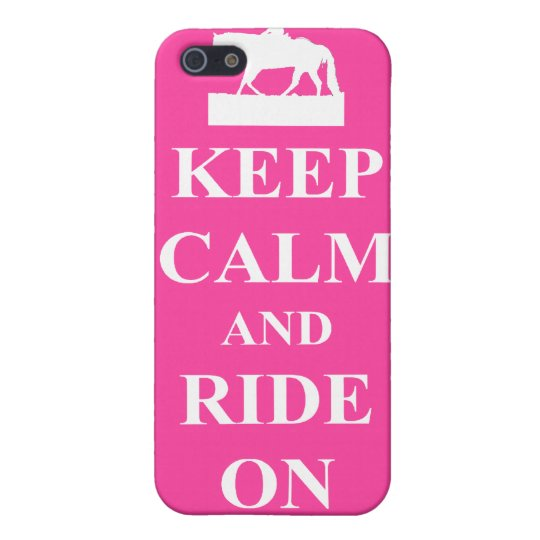 Keep calm & ride on (pink) iPhone SE/5/5s cover