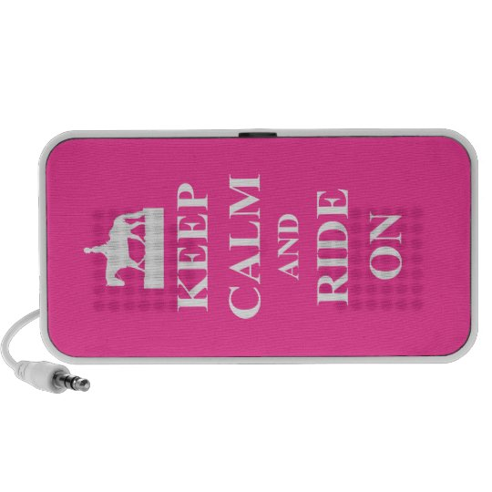 Keep calm & ride on (pink) portable speaker