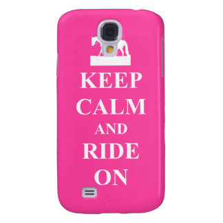 Keep calm & ride on (pink) samsung galaxy s4 case