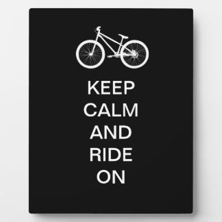 Keep Calm Ride On Plaque