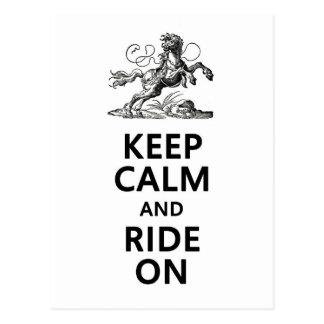 Keep Calm & Ride On Postcard