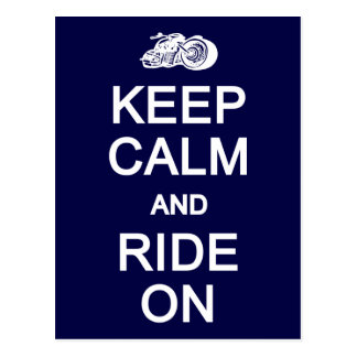Keep Calm & Ride On postcard, customize