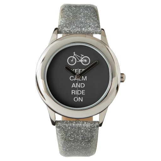 Keep Calm Ride On Wrist Watch