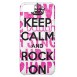 Keep Calm Rock On Cover For iPhone 5C