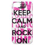 Keep Calm Rock On iPhone 5 Case