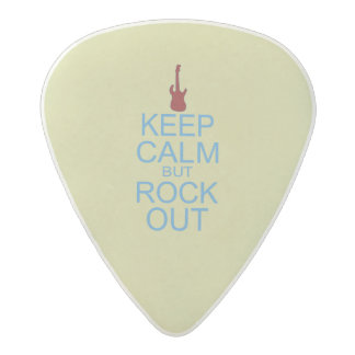 Keep Calm Rock Out – Parody -- Beige Background Acetal Guitar Pick