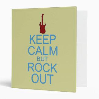 Keep Calm Rock Out – Parody -- Beige Background Binders