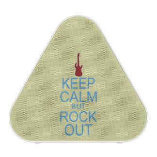 Keep Calm Rock Out – Parody -- Beige Background Bluetooth Speaker