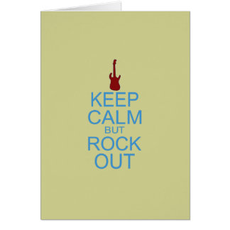 Keep Calm Rock Out – Parody -- Beige Background Card