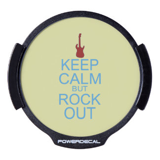 Keep Calm Rock Out – Parody -- Beige Background LED Window Decal