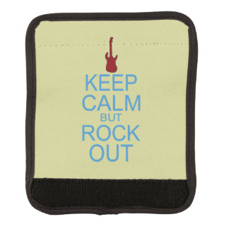 Keep Calm Rock Out – Parody -- Beige Background Luggage Handle Wrap