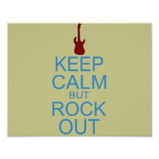 Keep Calm Rock Out – Parody -- Beige Background Poster