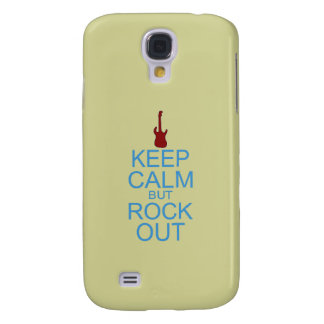 Keep Calm Rock Out – Parody -- Beige Background Samsung Galaxy S4 Cover
