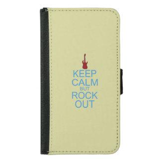 Keep Calm Rock Out – Parody -- Beige Background Samsung Galaxy S5 Wallet Case