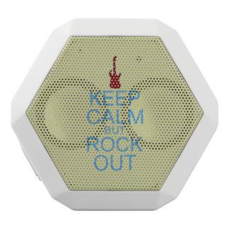 Keep Calm Rock Out – Parody -- Beige Background White Bluetooth Speaker