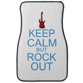 Keep Calm Rock Out – Parody - Pick Your Background Car Floor Mat