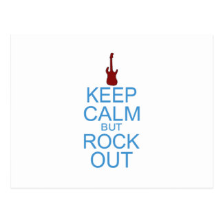 Keep Calm Rock Out – Parody - Pick Your Background Postcard