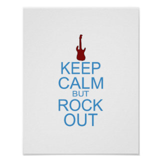 Keep Calm Rock Out – Parody - Pick Your Background Poster