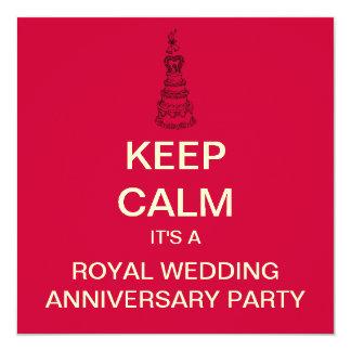 KEEP CALM Royal Wedding Anniversary Invite